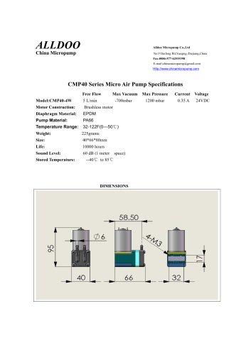 Longlife brushless DC motor air vacuum micro pumps