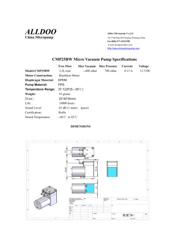 Longlife brushless DC motor air vacuum micropumps