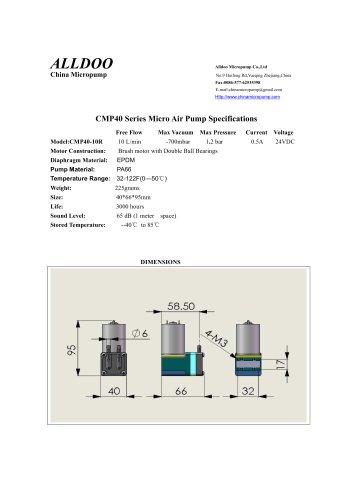 Membrane miniature pressure compressor
