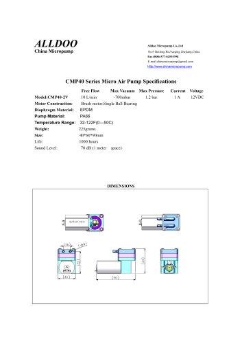 Micro gas Pump Miniature air pump mini compressor