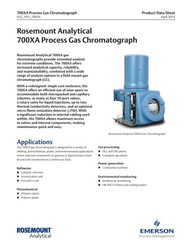 700XA Process Gas Chromatograph