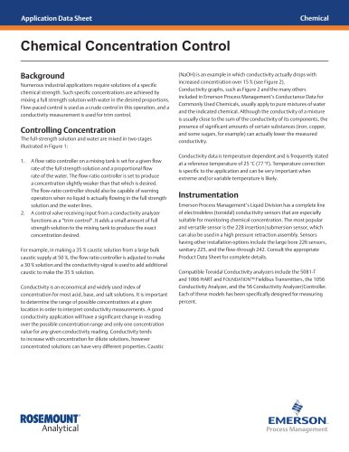 Chemical Concentration Control