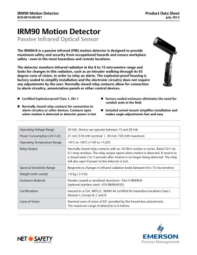 Explosion Proof Motion Detector