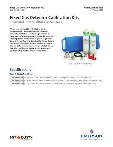Fixed Gas Detector Calibration Kits