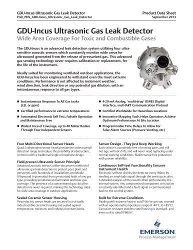 GDU-Incus Ultrasonic Gas Leak Detector
