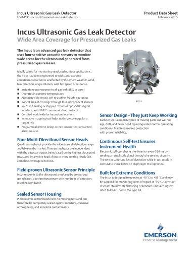Incus Ultrasonic Gas Leak Detector