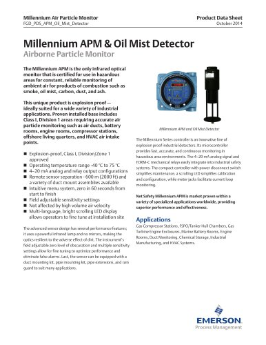 Millennium Air Particle Monitor and Oil Mist Detector