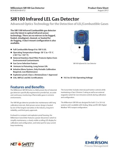Millennium Infrared Combustible Gas Detector