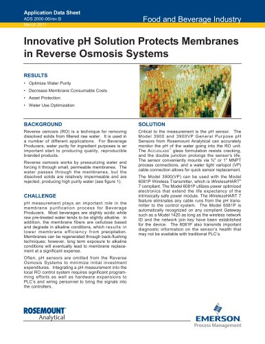 pH Solution Protects Membrane in Reverse Osmosis
