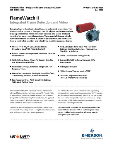 Net Safety Flame Detector Video Camera Combo