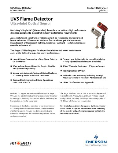 Net Safety UV Flame Detector