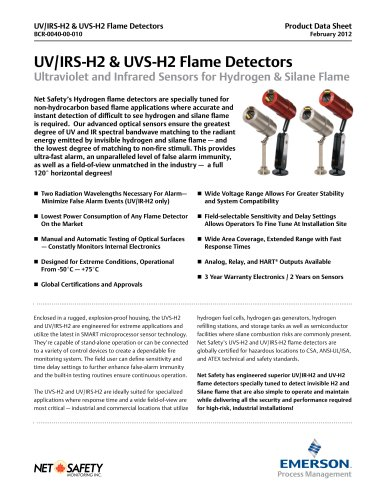 Net Safety UV/IR Hydrogen Flame Detector