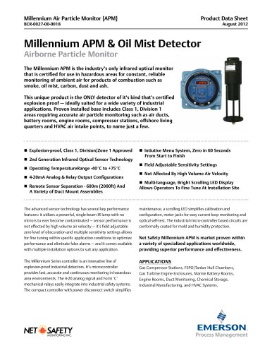 Smoke & Oil Mist Detector (Air Particle Monitor)