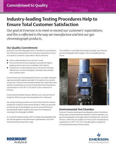 Testing Procedures Help to Ensure Total Customer Satisfaction