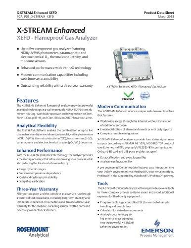 X-STREAM Enhanced XEFD - Flameproof Gas Analyzer