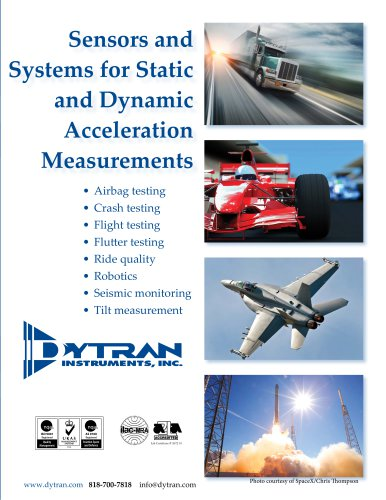 Sensors and Systems for Static and Dynamic Acceleration Measurements