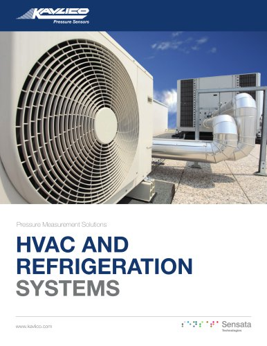 Pressure Sensors for HVAC and Refrigeration Brochure