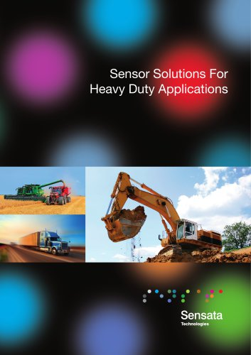 Sensor Solutions for Heavy Duty Applications Brochure