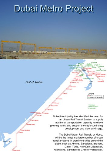 Gantry Cranes for Dubai Metro Project