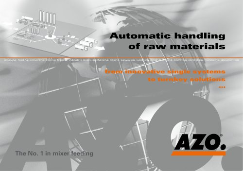 Automatic Handling of raw materials