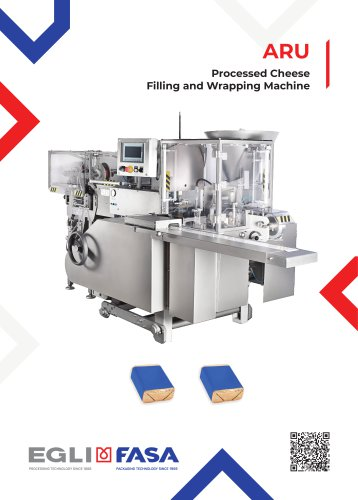 ARU - PROCESSED CHEESE FILLING AND WRAPPING MACHINE