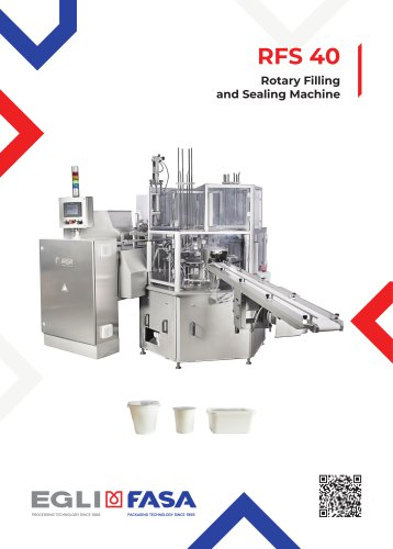 RFS40 - ROTARY FILLING AND SEALING MACHINE