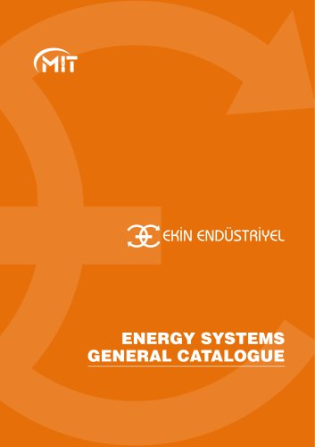 ENERGY SYSTEMS GENERAL CATALOGUE