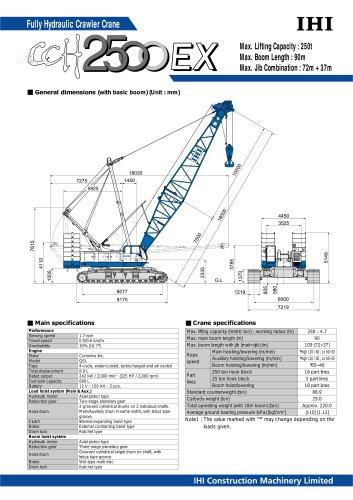 Crawler Crane CCH2500EX