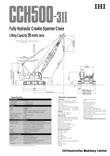 Crawler Crane CCH500-3II
