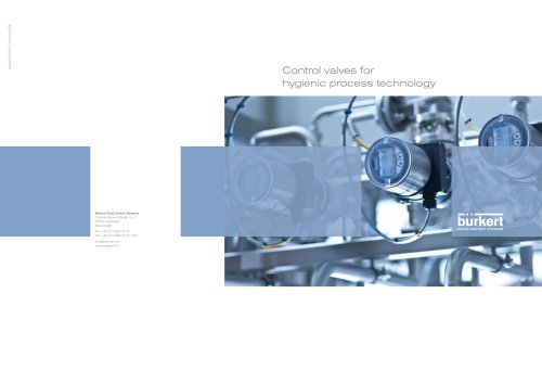 Kompetenz-Folder Regelventile für die Hygienische Prozesstechnik_En