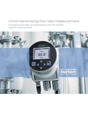 Uncompromising flow rate measurement