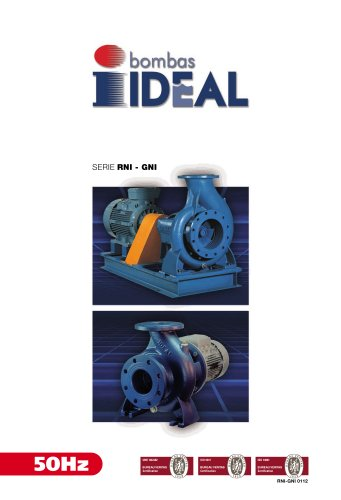 End suction pumps according to DIN 24255 Serie RN-RNI 60 Hz