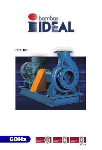 End suctions pumps - Norm DIN 24255- Series RN-RNI-GNI