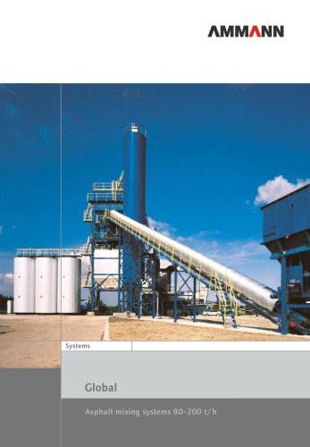 Asphalt mixing systems 80–200 t/h