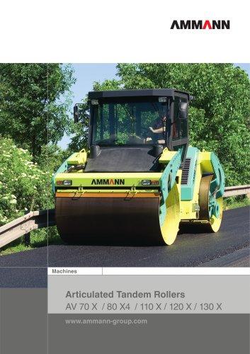 AV70-130 Articulated Tandem Rollers