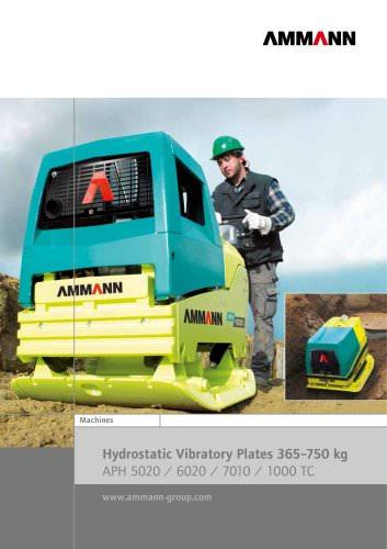 Hydrostatic Vibratory Plates 365-750 kg APH 5020 / 6020 / 7010 / 1000 TC