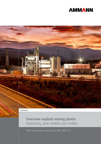 Overview asphalt mixing plants Stationary, semi-mobile and mobile