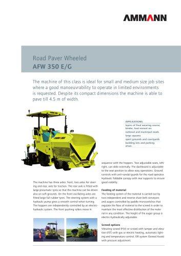 Road Paver AFW 350 E/G: Road Paver Wheeled