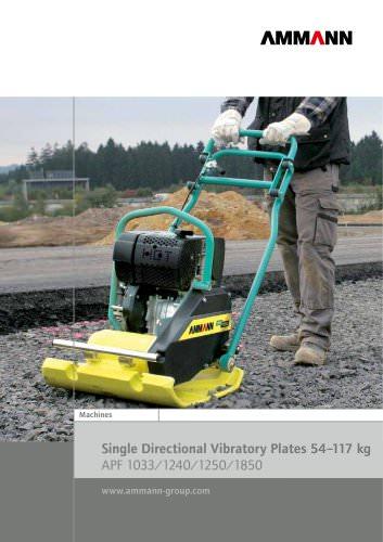 Single Directional Vibratory Plates 54?117 kg APF 1033/1240/1250/1850