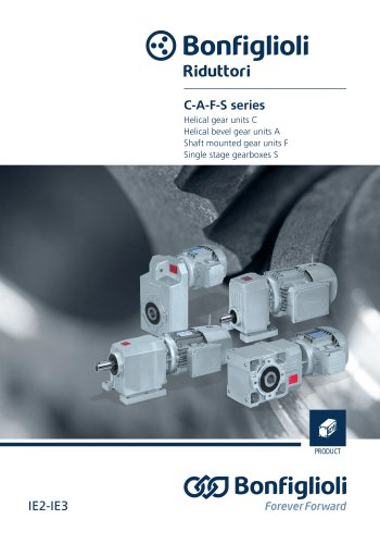 Helical and bevel-helical gear units C-A-F-S IE2-IE3 Series