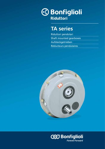 TA series - Shaft mounted gearboxes