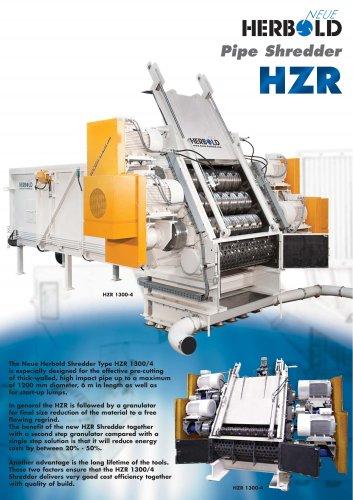 Neue Herbold Pipe-Shredder