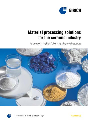 Material processing solutions for the ceramic industry