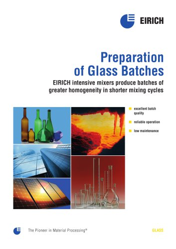 Preparation of Glass Batches