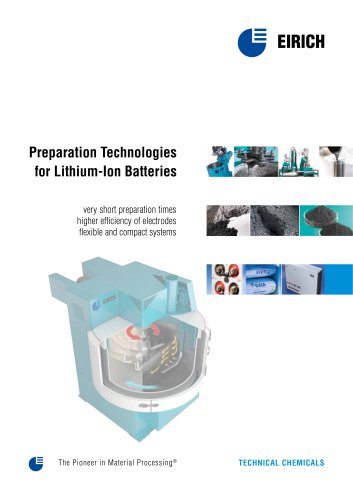 Preparation technologies for Lithium-ion Batteries