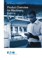 Product Overview for Machinery