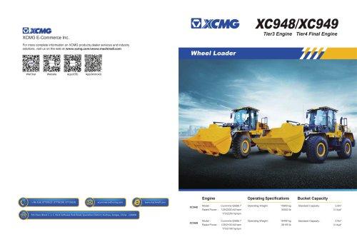 XCMG Tier4 Final Engine Wheel Loader XC949