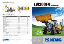 XCMG wheel loader 3 ton front end loader LW300FN