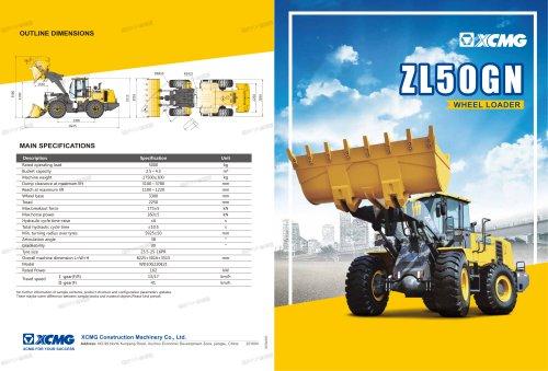 XCMG wheel loader 5 ton front end loader ZL50GN