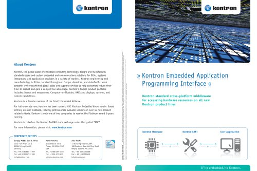 Kontron Embedded Application Programming Interface